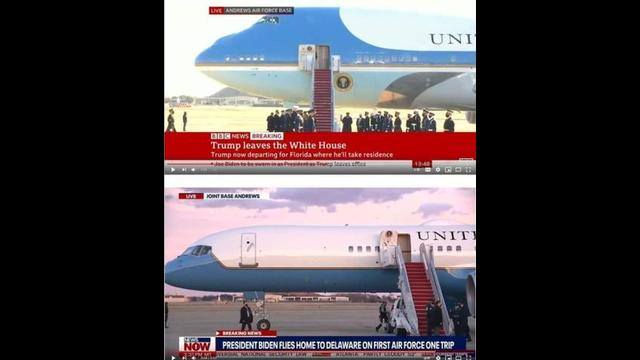 BIDEN'S AIR FORCE ONE IS NOT THE SAME AS TRUMP'S AIR FORCE ONE