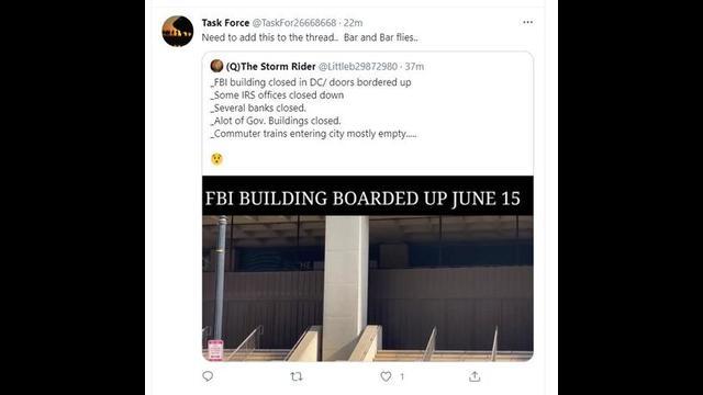 FBI BUILDING IN WASHINGTON DC BOARDED UP